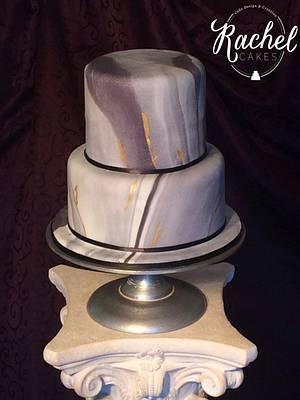 Marble Birthday Cake - Cake by Rachel~Cakes