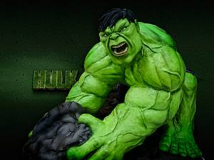 Hulk vs Spiderman - Comicake - Cake by Nomverguán