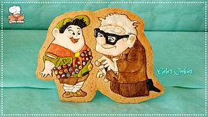 Russell and Mr.Fredricksen - Up - Cake by Gele's Cookies