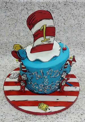 thing 1 thing 2 cake,  - Cake by TnK Caketory