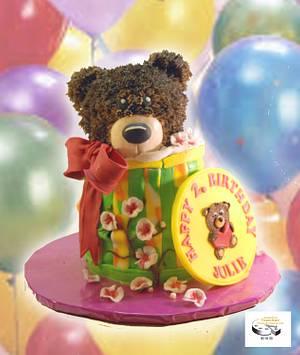 teddybear-box-birthdaycake - Cake by Aurelia'sTartArt