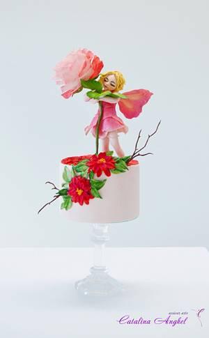 Rose Fairy - Catalogo de seres fantásticos challange - Cake by Catalina Anghel azúcar'arte