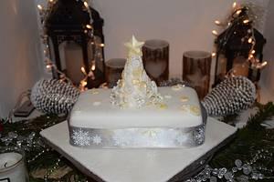Office Christmas Cake - Cake by Mayasbakingboutique