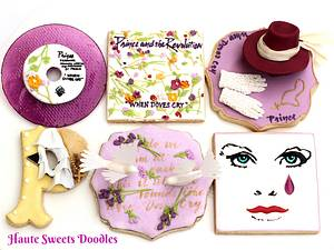 """""""When Doves Cry"""" cookie set for The Power of Music Cake Collaboration  - Cake by Hiromi Greer"""