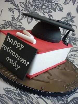 Headmaster retirement cake - Cake by Isabelle Bambridge