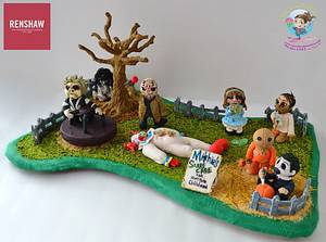 RenshawUSA Collab - Mitchie's SCARECARE for HORRORible Children - Cake by Chef Mitchie