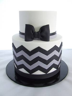 Chevron Bowtie - Cake by Cake A Chance On Belinda