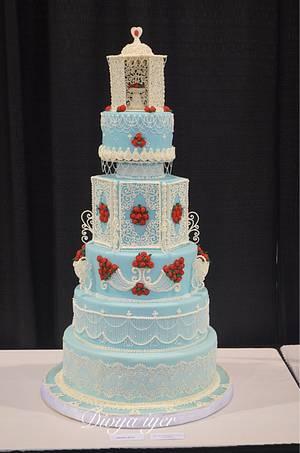 Enchanted Royal icing wedding cake  - Cake by Divya iyer