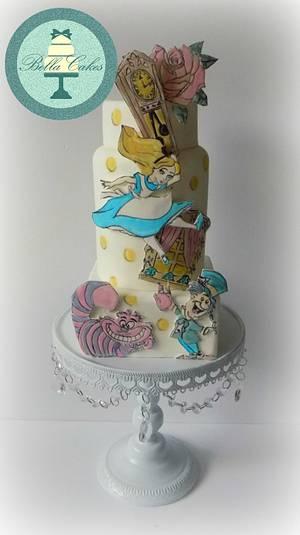 Alice in Wonderland - Cake by Bella Cakes