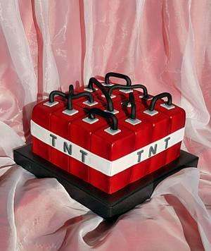 TNT bomb /block Minecraft - Cake by Tirki