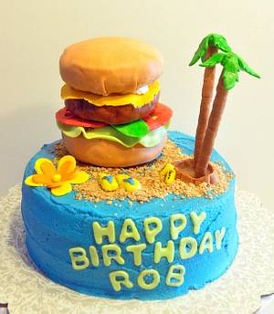 Cheeseburger in Paradise - Cake by Wendy