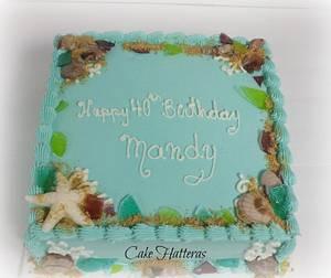 Beach Birthday - Cake by Donna Tokazowski- Cake Hatteras, Hatteras N.C.