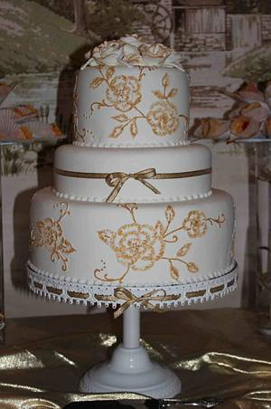 50 Golden years - Cake by Susan Silva