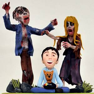 The Walking Dead....Zombie Birthday - Cake by Janette MacPherson Cake Craft