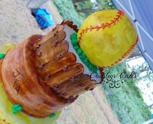 Softball Wedding - Cake by Michelle