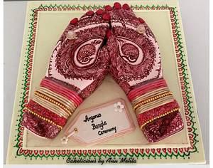 Indian Wedding... Henna Ceremony!! - Cake by Cakelicious by Anu Mehta