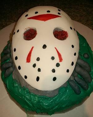 Friday the Thirteenth - Cake by Cinnemin Gurl