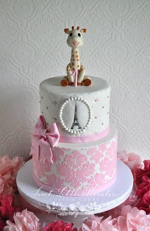 Sophie the Giraffe 1st Birthday Cake - Cake by Stephanie
