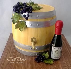 Wine barrel - Cake by Diane