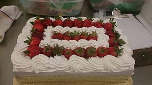 Strawberry Boston Cake - Cake by Allyson Thornley