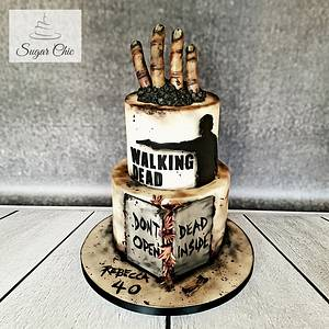 The Walking Dead Cake - Cake by Sugar Chic