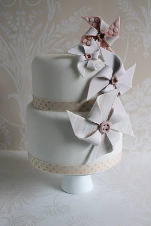 Pinwheel cake - Cake by Zoe's Fancy Cakes