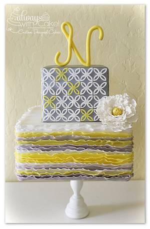 Quatrefoil & Ruffles - Cake by AlwaysWithCake