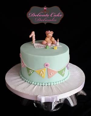 Teddy Bear baby cake - Cake by Yomna Elazawy