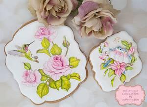 Beautiful Floral Bird Cookies 🕊🌷🌸 - Cake by Bobbie