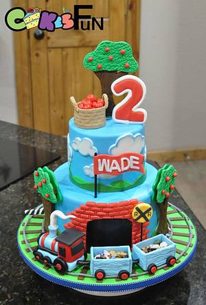Train and apple trees - Cake by Cakes For Fun