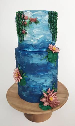 Nymphéas - Cake by vivalabuttercream