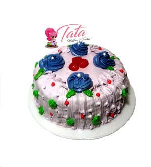 Torta Rosas - Cake by Tata Postres y Tortas