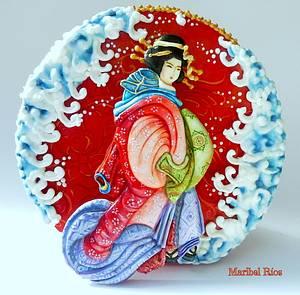 """Colaboración """"Primavera con Arte"""" Spring Art - Cake by Maribel Ríos"""