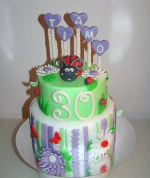 Coccinella e margherite - Cake by Le Torte di Mary