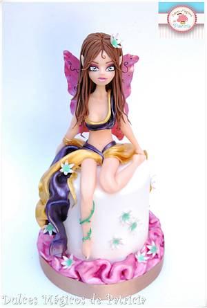 Chocolate fairy - Cake by Dulces Mágicos de Patricia