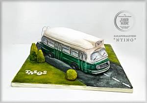 Old Bus Cake - Cake by Aspasia Stamou