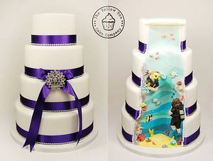 It's a surprise cake. - Cake by Yellow Bee Sugar Art by Vicky Teather