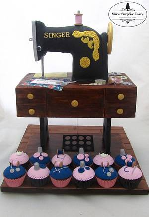 A cake for a Dressmaker - Cake by Rose, Sweet Surprise Cakes