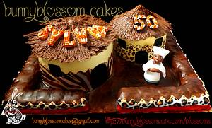 African hut cake - Cake by BunnyBlossom