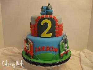 Thomas the Tank Engine Birthday - Cake by Becky Pendergraft