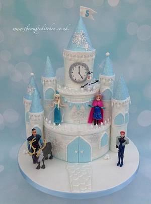 Frozen Castle Cake - Cake by The Crafty Kitchen - Sarah Garland