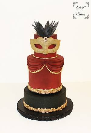 Venetian Carnival Collaboration - Cake by Djamila Tahar (DT Cakes)