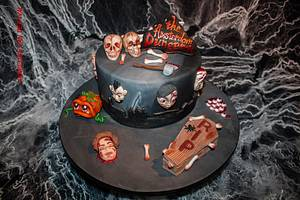 Happy Halloween for The Amsterdam Dungeon - Cake by Jacqueline
