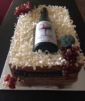 Wine bottle - Cake by Jeaniecakes