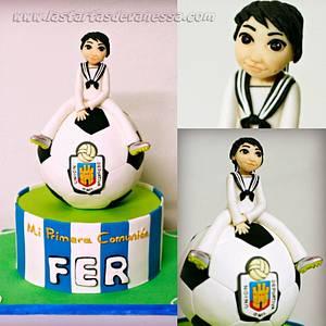 Comunión de Fer - Cake by Vanessa Rodríguez