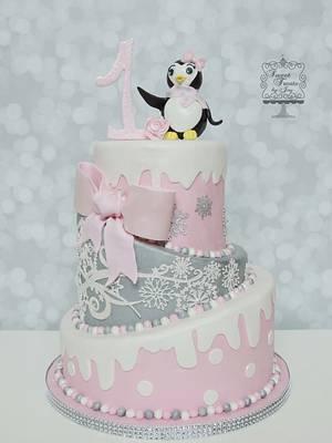 Winter Penguin - Cake by Joy Thompson at Sweet Treats by Joy