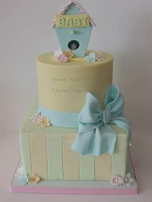 Babyshower Birdhouse - Cake by Shereen