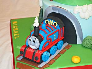 2 tier Thomas the Tank Engine - Cake by Ann-Marie Youngblood