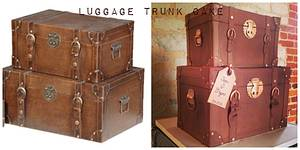 Luggage Trunk Wedding Cake - Cake by Emma Waddington - Gifted Heart Cakes