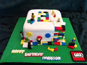 Lego construction cake - Cake by Sweet Scene Cakes